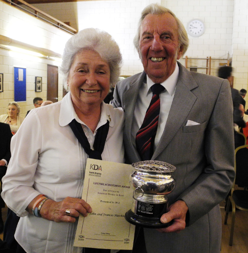 John and Frankie Hutchings receive their lifetime achievment award